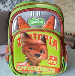 Рюкзак ранец портфель школьный ОРТО Зверополис