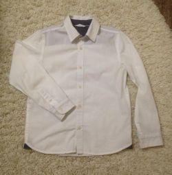 Сорочка GJ біла з довгим рукавом