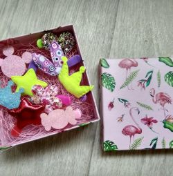 Заколочки в коробочці вид 2 ідея подарунка