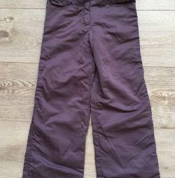 Sela pants, eggplant color, for 6 years, condition from