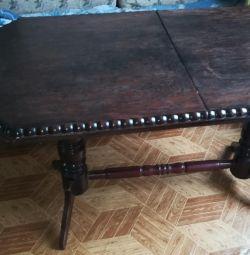 Στερεό τραπέζι δρυός με μηχανισμό ανύψωσης механизм