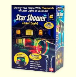 Лазерный звездный новогодний проектор
