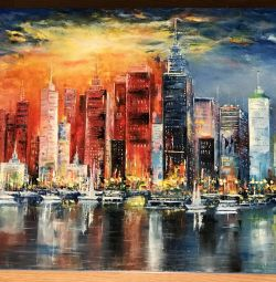 "Oil painting on canvas ""City"""