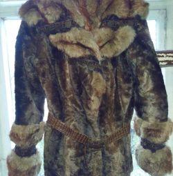 Ημι-γούνινο παλτό auto lady ecomech