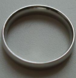 Ασήμι δαχτυλίδι. Νέο, μέγεθος 19 χιλιοστά.