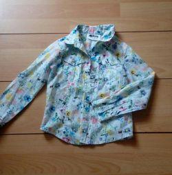 Ένα πουκάμισο για ένα κορίτσι. Ύψος 116