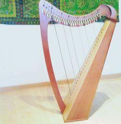 Harp Celtic. προς τα πίσω. ελαφρύ και μικρό