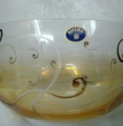Salad bowl bohemian glass