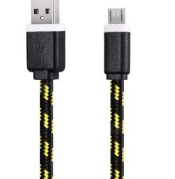 Micro usb cable 3 meters in cloth braiding