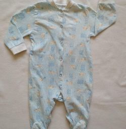 Overalls for children. Slip baby clothes.