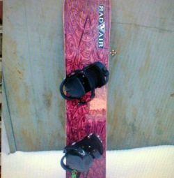 Snowboard 154 με βάσεις