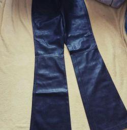 Кожаные джинсы новые