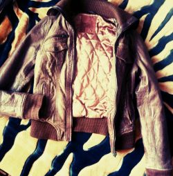 Stradivarius jacket (genuine leather)