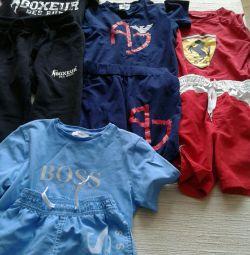 Νέα σορτς παντελόνι και μπλουζάκια αγόρι 8-10 χρόνια