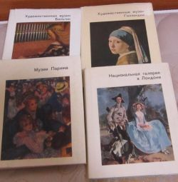Books about museums, galleries with ill. pocket format