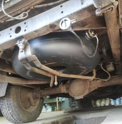UAZ Patriot Pickup cylinder 94 liter installation of HBO