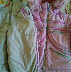 Costum de iarna pentru 5-6 ani (122 cm)