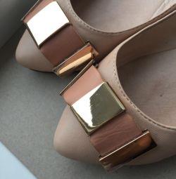 Pantofi de balet, piele, bej 37 р-р