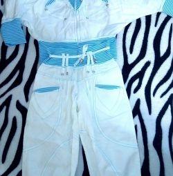 Costum, 100 de bumbac, pentru fete 6-8 ani (Spania)