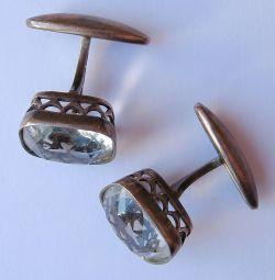 Butoni de vintage numărul 4 (argint placat cu aur)