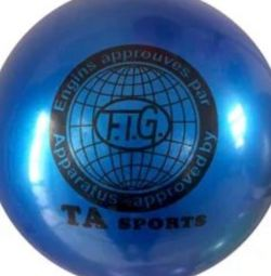 Ball for rhythmic gymnastics. Bright blue cm