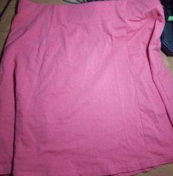 Fustă roz pe o fată de 13-14-15 ani.