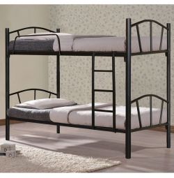 Кровать Bunk Floor Metallic Black 90x190