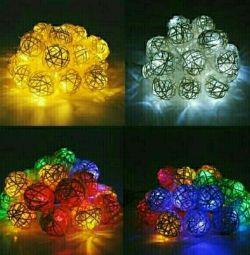 Garland Natural Rattan 20 LED