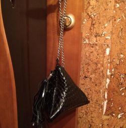 Handbag leather nat.