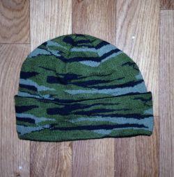 Camouflage cap on fleece