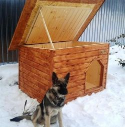 Insulated booth for middle dogs