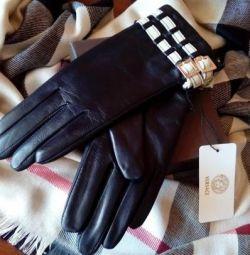 Versace γάντια από γνήσιο δέρμα