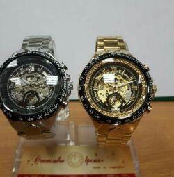 Men's mechanical watch skeletons