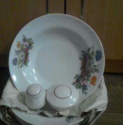 A set of plates