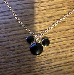 Μενταγιόν Mickey Mouse με αλυσίδα
