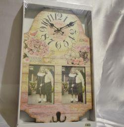 Elegant ceas cu rame foto și cârlige !!!