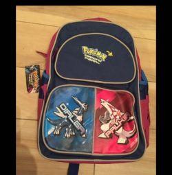 New Pokemon backpack, pencil case, folder for notebooks
