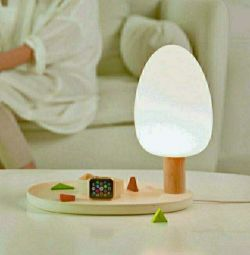LED lamp with wireless charging function