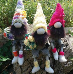 Flower gnomes. Interior toy.