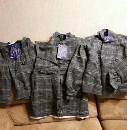 Sundress, παντελόνι, σακάκι για το σχολείο για την ανάπτυξη του 146