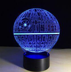 LED 3D lamba Ölüm Yıldızı