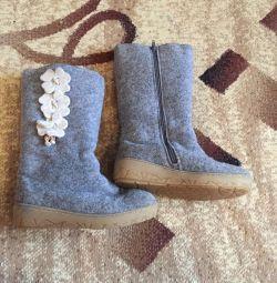 Felt boots winter