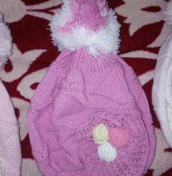 Children's hat, purple, new.