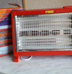 Quartz heater with fan heater