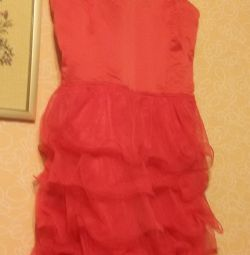 New dress in red color