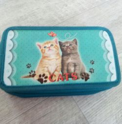 Pencil case with two divisions
