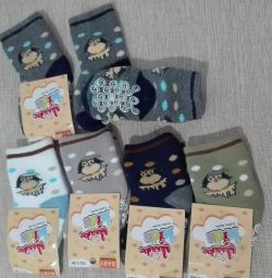 Νέες ζεστές κάλτσες για 0-6 μήνες