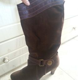 brown country boots, worn little 39