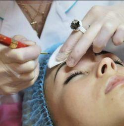 Microblade tatuaj sprancene .. metoda părului