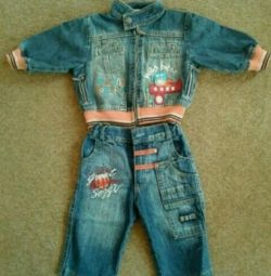 Denim suit for the boy